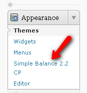 Access the Simple Balance Control Panel
